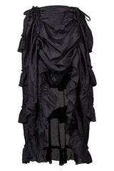 Atomic Black Adjustable Ruffle Skirt
