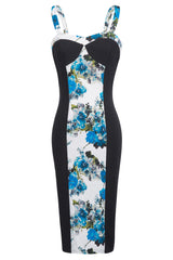 Vintage Floral Pencil Bodycon Dress