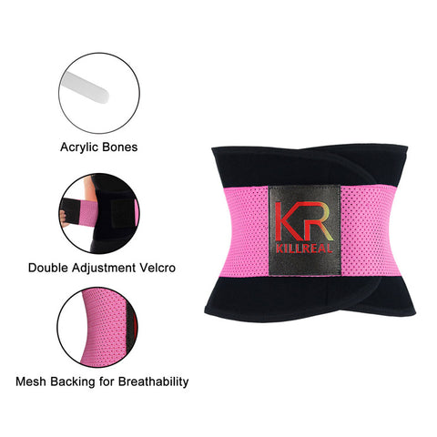Pink Workout Waist Trainer Belt