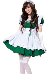 Green and White Lolita Maid Costume