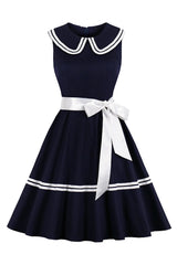 Atomic Vintage Streak Dress with Bow Belt