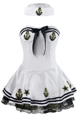 White High Seas Sailor Costume