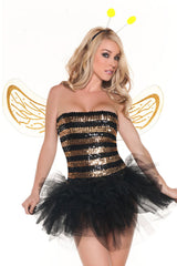 Gold and Black Sequins Bee Costume
