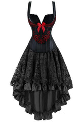 Two Piece Romantic Corset and Skirt