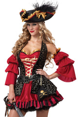 Red Spanish Pirate Costume