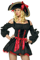 Black Bowed Captain Costume