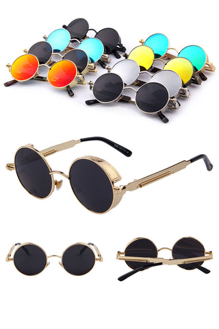 Industrial Steam Round Sunglasses