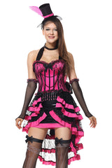 Pink and Black Burlesque Costume
