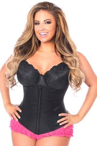 Black Underbust Zipper Corset