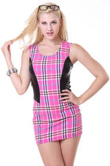Atomic Pink Naughty Schoolgirl Mini Dress