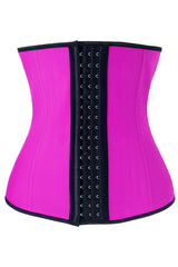 Hot Pink Steel Boned Latex Underbust Corset