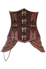 Brown Steampunk Steel Boned Underbust Corset