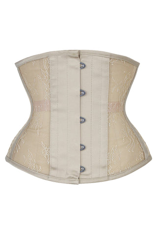 See-Through Floral Steel Boned Underbust Corset