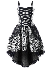 White Vintage Goth Corset Dress
