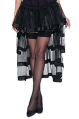 Black Tiered Embellished Petticoat