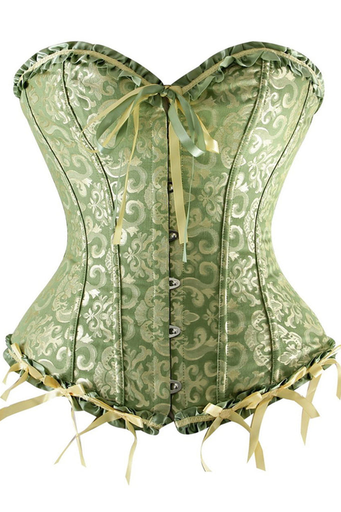 fa63eca5be Atomic Green Tapestry Overbust Corset
