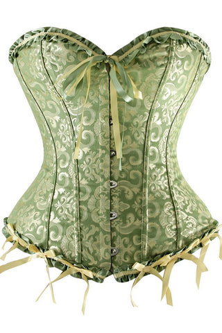 Green Tapestry Overbust Corset
