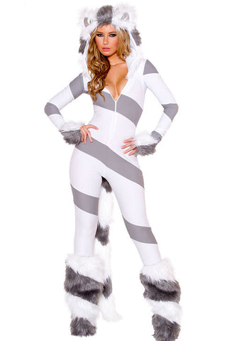 Gray Pretty Kitty Cat Costume