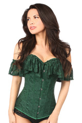 Emerald Lace Off-The-Shoulder Corset