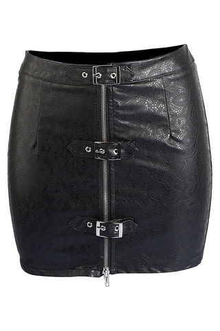 Punk Black Bodycon Mini Skirt