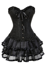 Black Victorian Burlesque Corset And Tutu