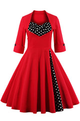 Red Polka Dot Bow Knot Dress