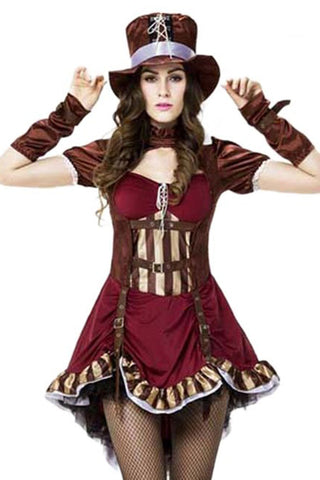 Brown Burlesque Steampunk Costume