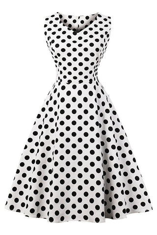 Polka Dot Print Midi Dress