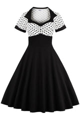 Miss Victory Polka Dot Rockabilly Dress