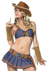 Dark Blue Fancy Cowgirl Costume
