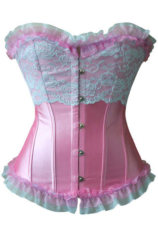 After Five Pink Ruffles and Lace Corset
