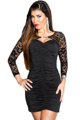 Black Dress With Laced Bolero