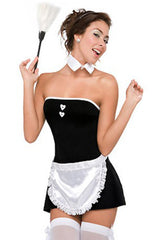 Black Alluring French Maid Costume
