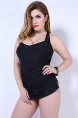 Bandeau Plus Size One Piece Swimsuit