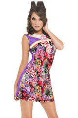 1960's Flower Power Mini Dress