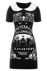 Black Ouija Board Gothic Mini Dress