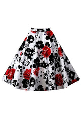 Radiant Rose Rockabilly Skirt