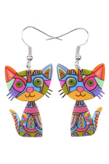 Abstract Kitty Earrings