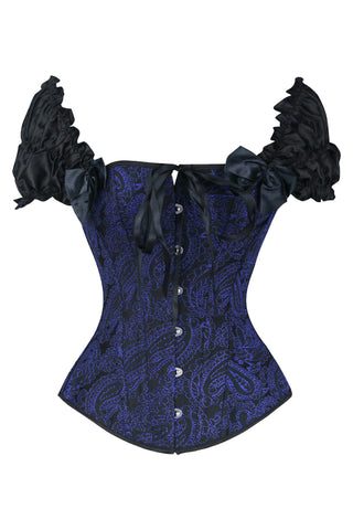 Deep Blue Moon Burlesque Corset