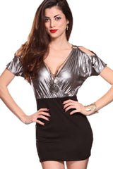 I'll Have a Martini Metallic Mini Dress