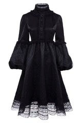 Ruffled Button Gothic Dress