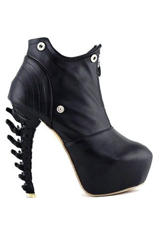 Zip High Top Ankle Boots