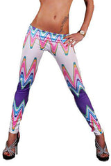 Atomic Colorful Wave Print Leggings