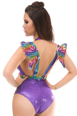 Rainbow Glitter Body Harness w/ Wings