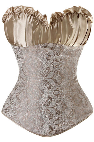 Champagne Vintage Inspired Overbust Corset