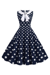Bowknot Polka Dot Summer Dress