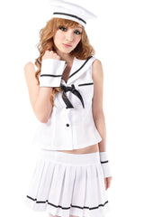 White Navy Sailor Crew Costume