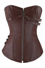 Brown Steampunk Long Torso Corset