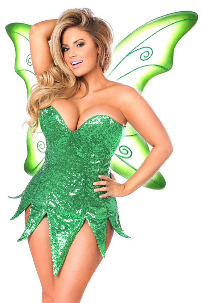 02d0981a784 ... Top Drawer Plus Size Green Sequin Fairy Costume. Green Sequin Fairy  Costume