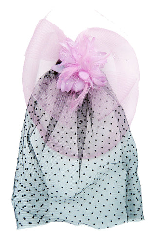Pink Flower Topper with Veil